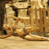 12-Bronze de Kala ciselé non patinée